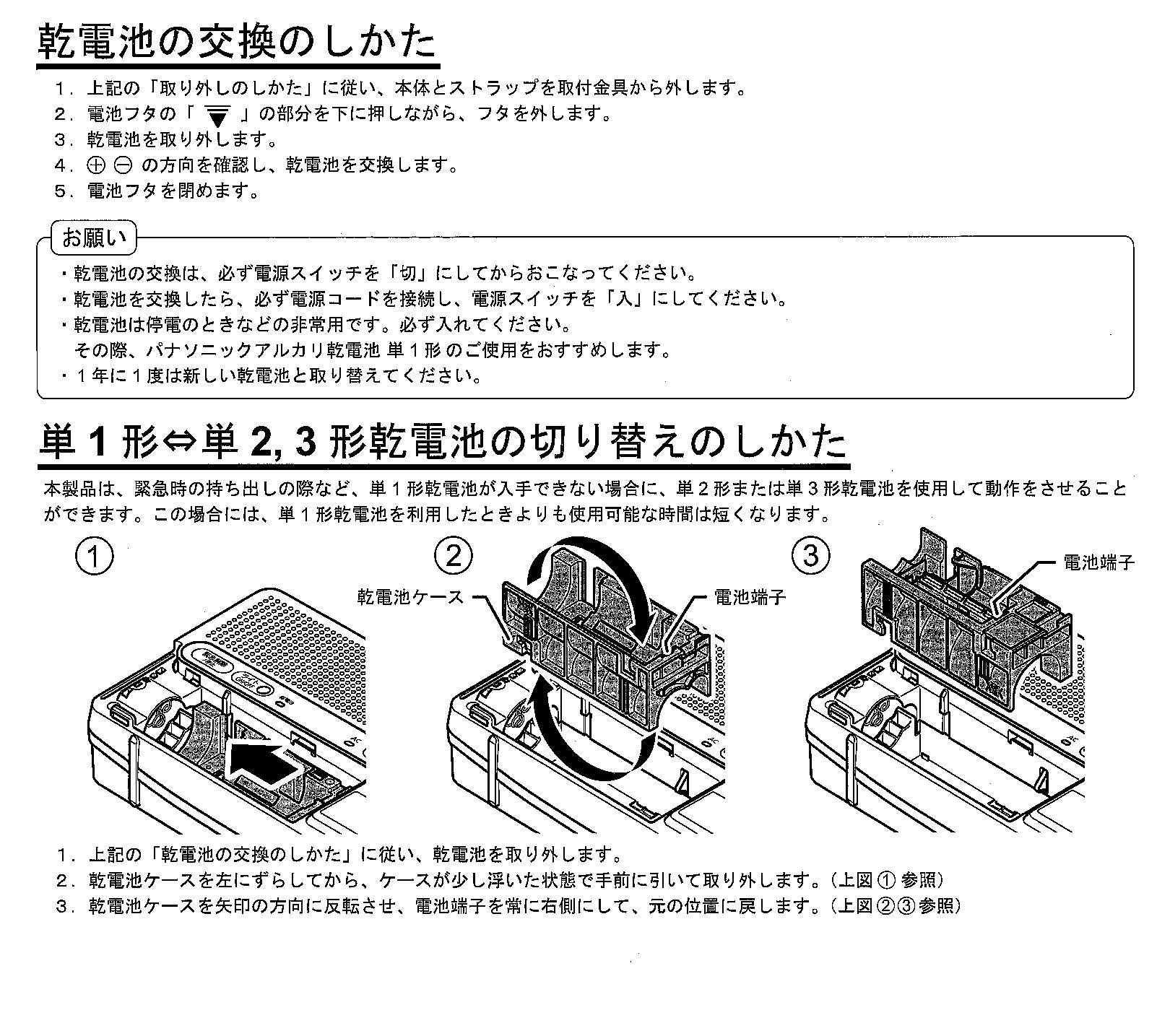 防災無線(電池交換方法)